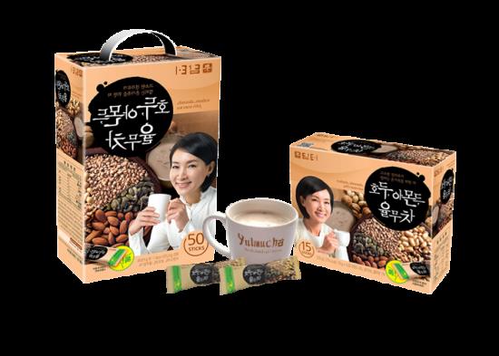 yulmucha, té de maní. Mezcla de frutos secos, con maní, almendra y nuez. Walnuts, almonds, job´s tears tea