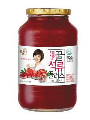 Dalcom Cha, Honey Pomegranate Tea, Infusión de granada con nata de coco