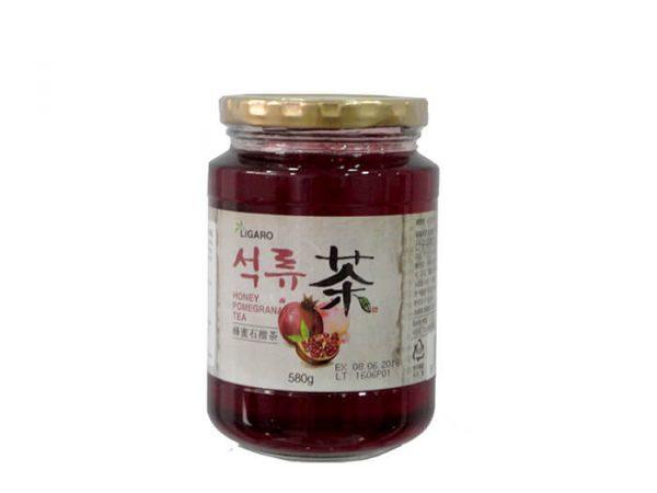 kulcha ligaro, Infusión de Granada : Elaborada con granada iraní y adición de extracto de cereza cornalina. Es un té tradicional coreano